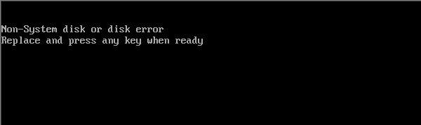 Non-system disk or disk error
