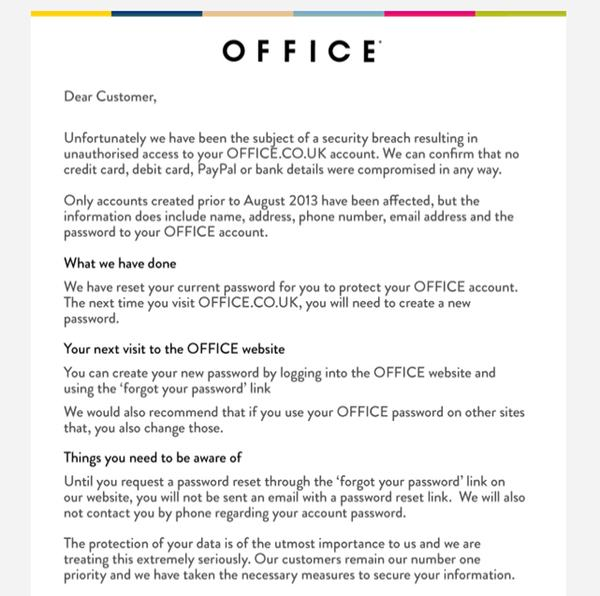 Email from Office