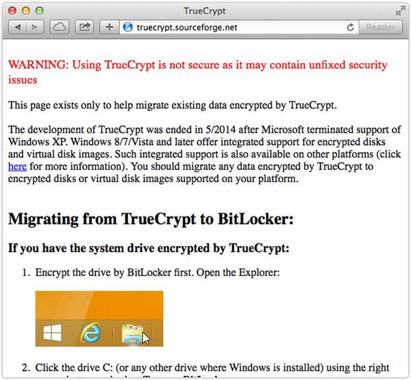 TrueCrypt website
