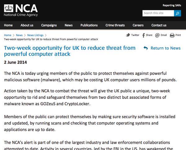 NCA warns public