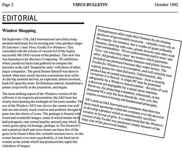 Virus Bulletin, October 1992