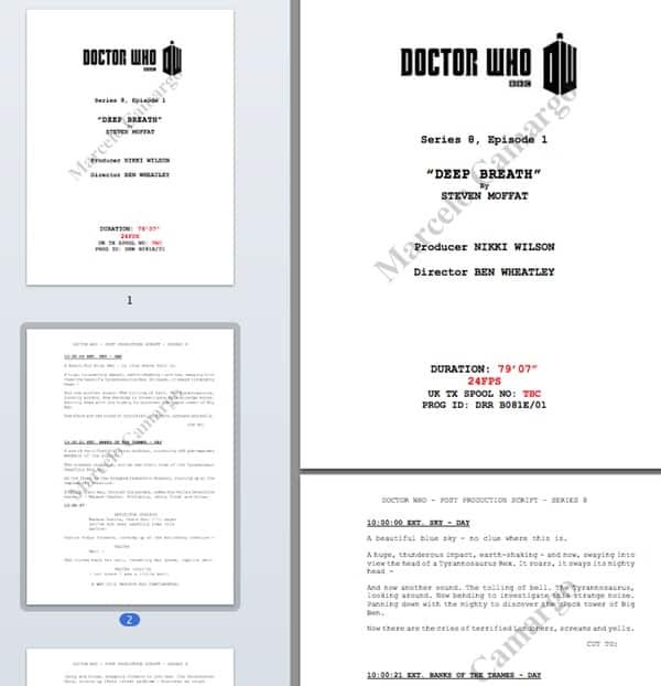 Doctor Who script
