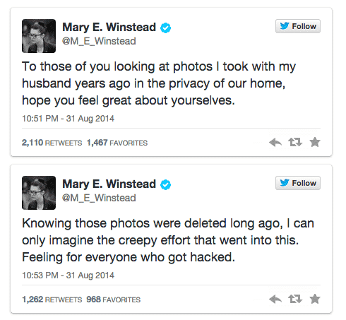 Mary Winstead tweets
