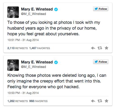 Mary Winstead tweets