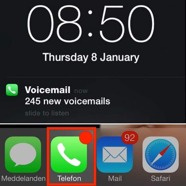 Meddling with voicemail numbers