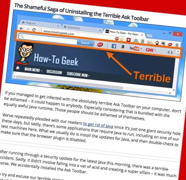 Ask Toolbar removal guide