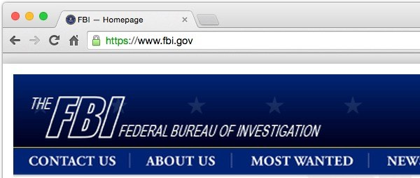FBI site uses HTTPS
