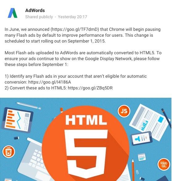 Announcement on Google Plus