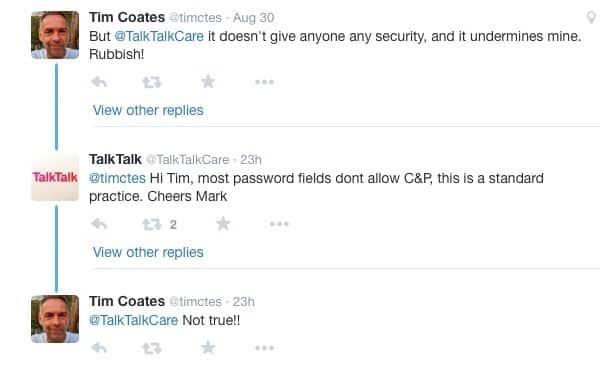 TalkTalk tweets to upset customer