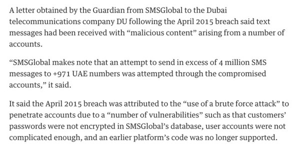 Part of The Guardian report
