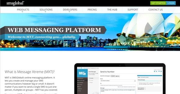 SMSGlobal website