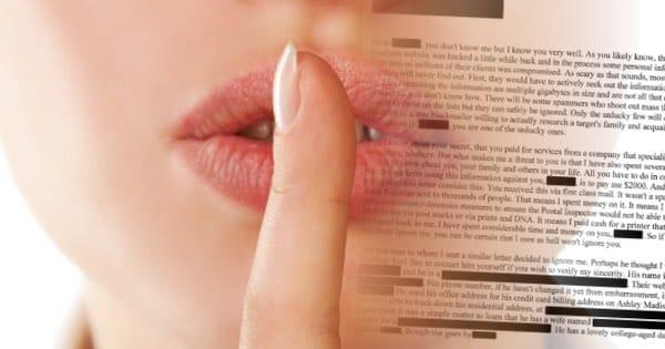 ashley madison blackmail letter