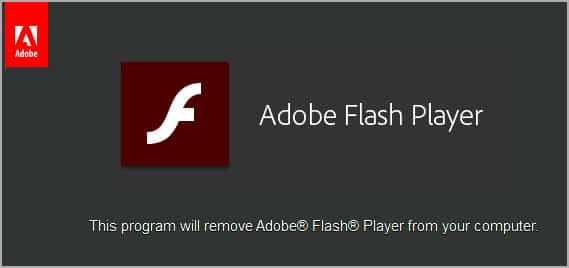 Uninstalling Flash on Windows
