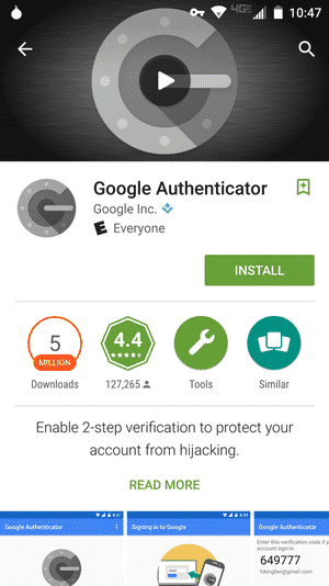 Google authenticator 2