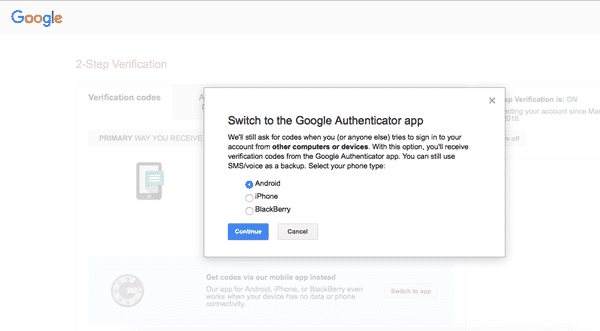 Google authenticator 4