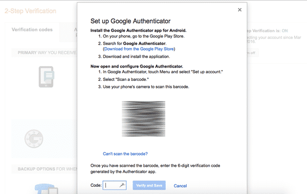 Google authenticator 5