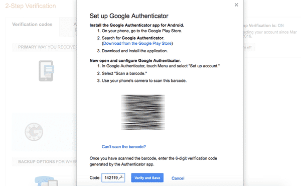 Google authenticator 8