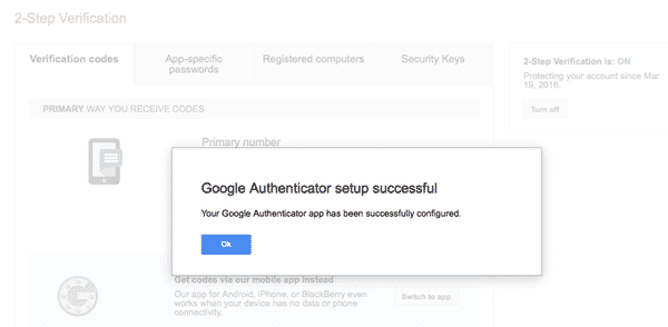 Google authenticator 9