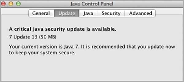 Java OS X settings