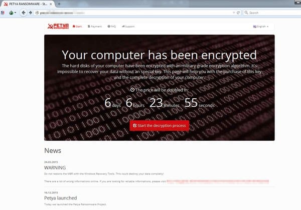 Petya website
