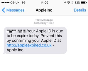 Watch Out There Are Apple Id Sms Phishers About Graham Cluley