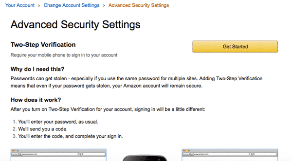 How To Protect Your Amazon Account With Two Step Verification 2sv