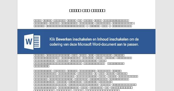 Malicious Word document