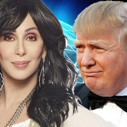 Donald Trump asks for help from Russian hackers. Cher isn't happy