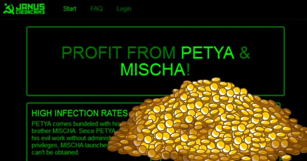 Petya, Mischa ransomware affiliate system goes live