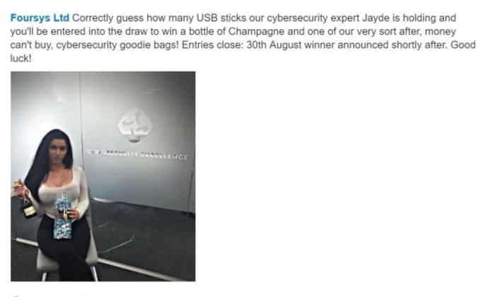 Jayde LinkedIn post