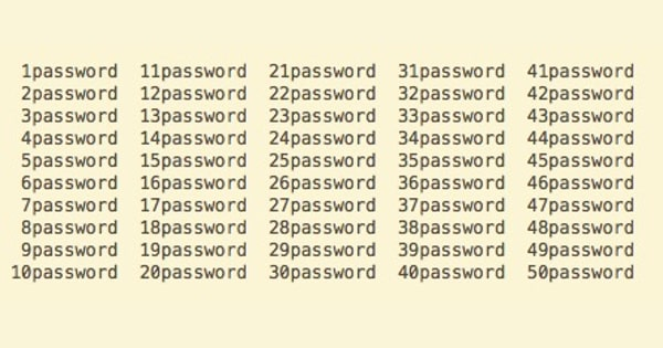 Repeated passwords