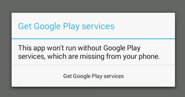 Wont run without google play