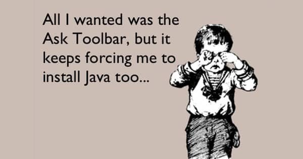 Ask toolbar and Java - they deserve each other