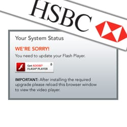 Want to watch HSBC's security awareness videos? You'd best have Flash installed…