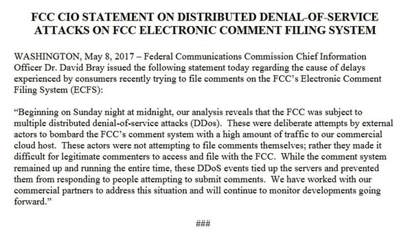 FCC statement