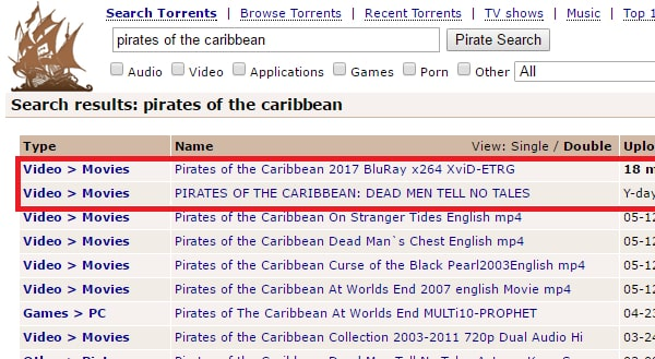 Pirate torrents