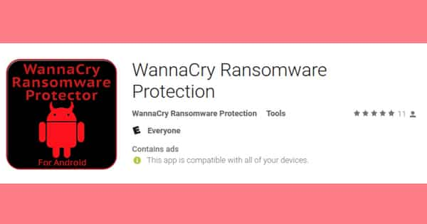 Yup, the Android app store is full of useless, unwanted anti-WannaCry apps