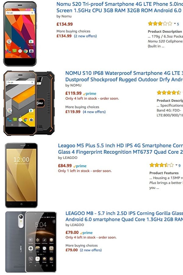 Infected Android devices on Amazon