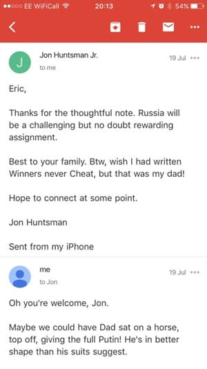 Fake eric trump email
