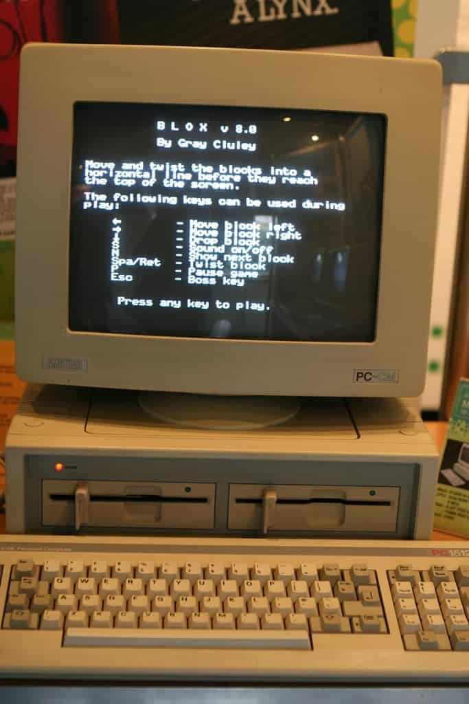 Blox running on an Amstrad 1512 PC