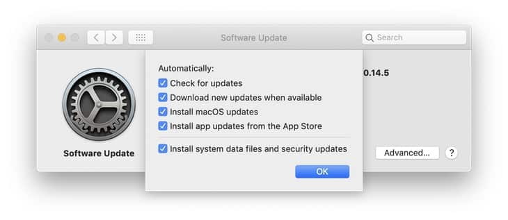 Macos system update preferences