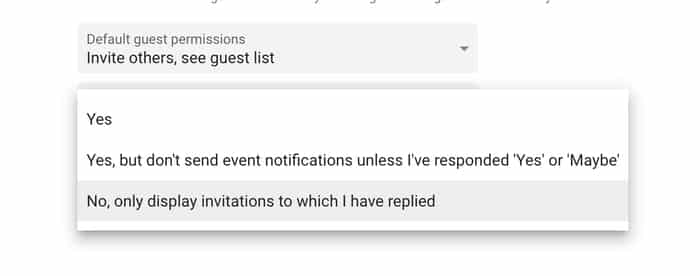 Display invited replied