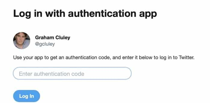 Log in authentication app
