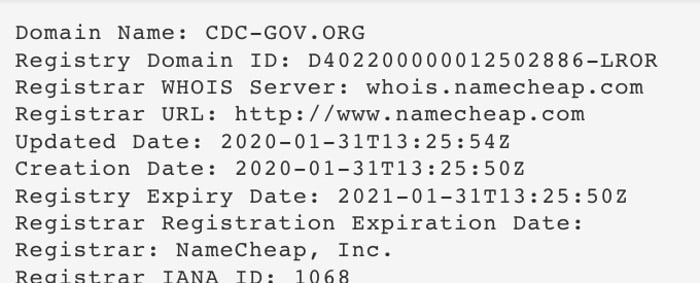 Whois information for Cdc-gov.org