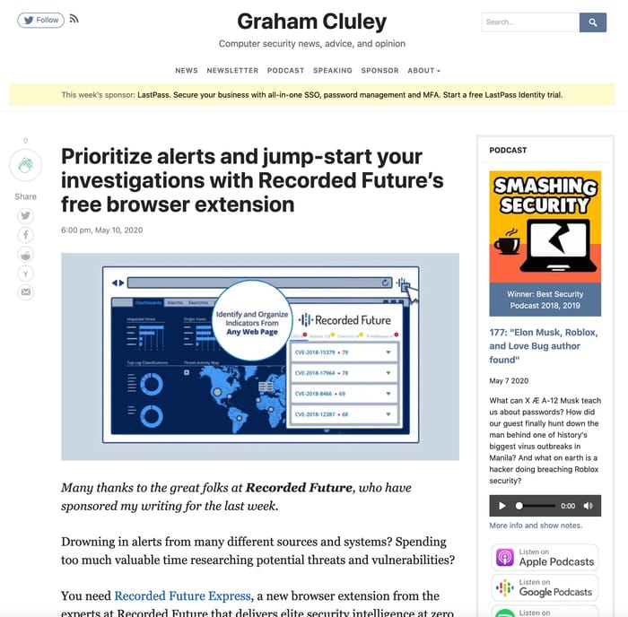 Example sponsored article