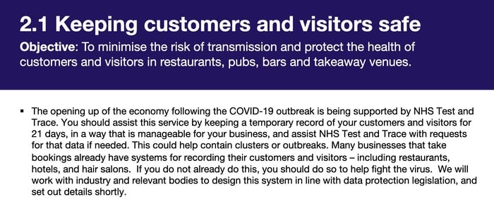 Keeping customers and visitors safe