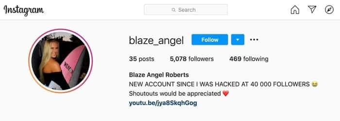 New instagram account