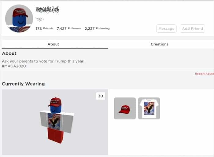 Has Your Roblox Account Been Hacked To Support Donald Trump Graham Cluley