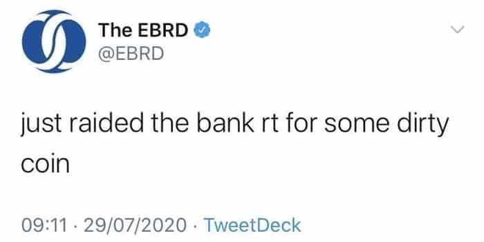 Tweet dirty coin