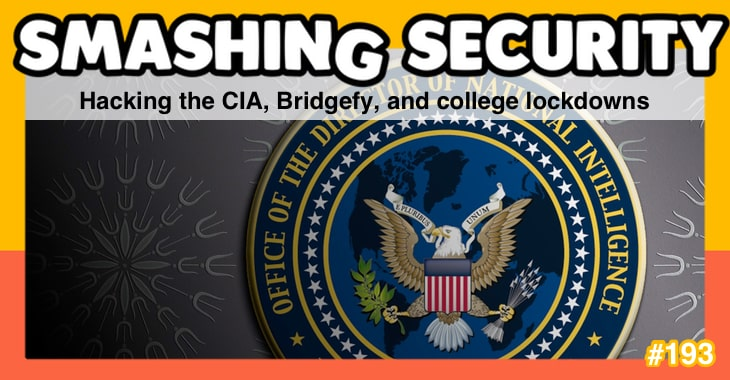 Smashing Security podcast #193: Hacking the CIA, Bridgefy, and college lockdowns